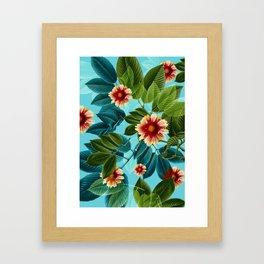 Tropical flowers Hawaii Framed Art Print