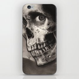 Ash with Skull and Cross - Evil Dead 2 Charcoal and Graphite Drawing Art iPhone Skin