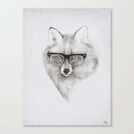 Fox Specs Canvas Print