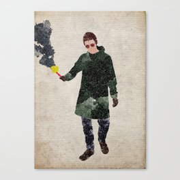 Liam Gallagher watercolour print Canvas Print