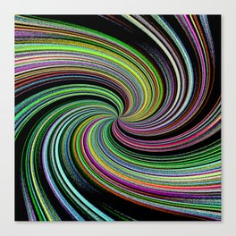 Abstract Colorful Twirl Canvas Print