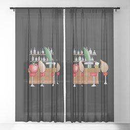 salad bar Sheer Curtain