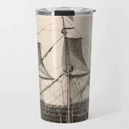 Vintage Naval Vessel Interior Diagram (1693) Travel Mug