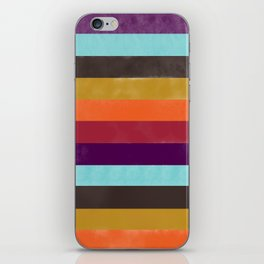 Retro Self-Striping Socks iPhone Skin