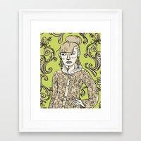 baroque Framed Art Prints featuring Baroque  by Danielle Feigenbaum