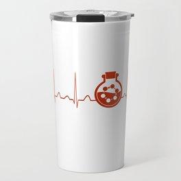 Biochemist Heartbeat Travel Mug