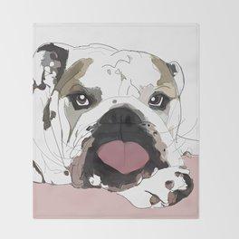 English Bulldog Love Throw Blanket