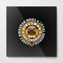 Pug Sidekick Metal Print