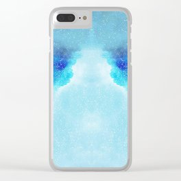 Blue Wave Clear iPhone Case