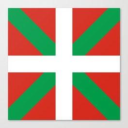 Basque Country: Euskaldun Flag Canvas Print