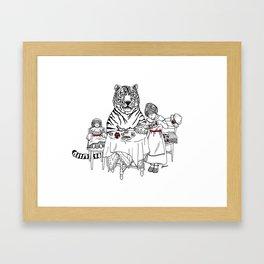 Have a Tiger to Tea Framed Art Print
