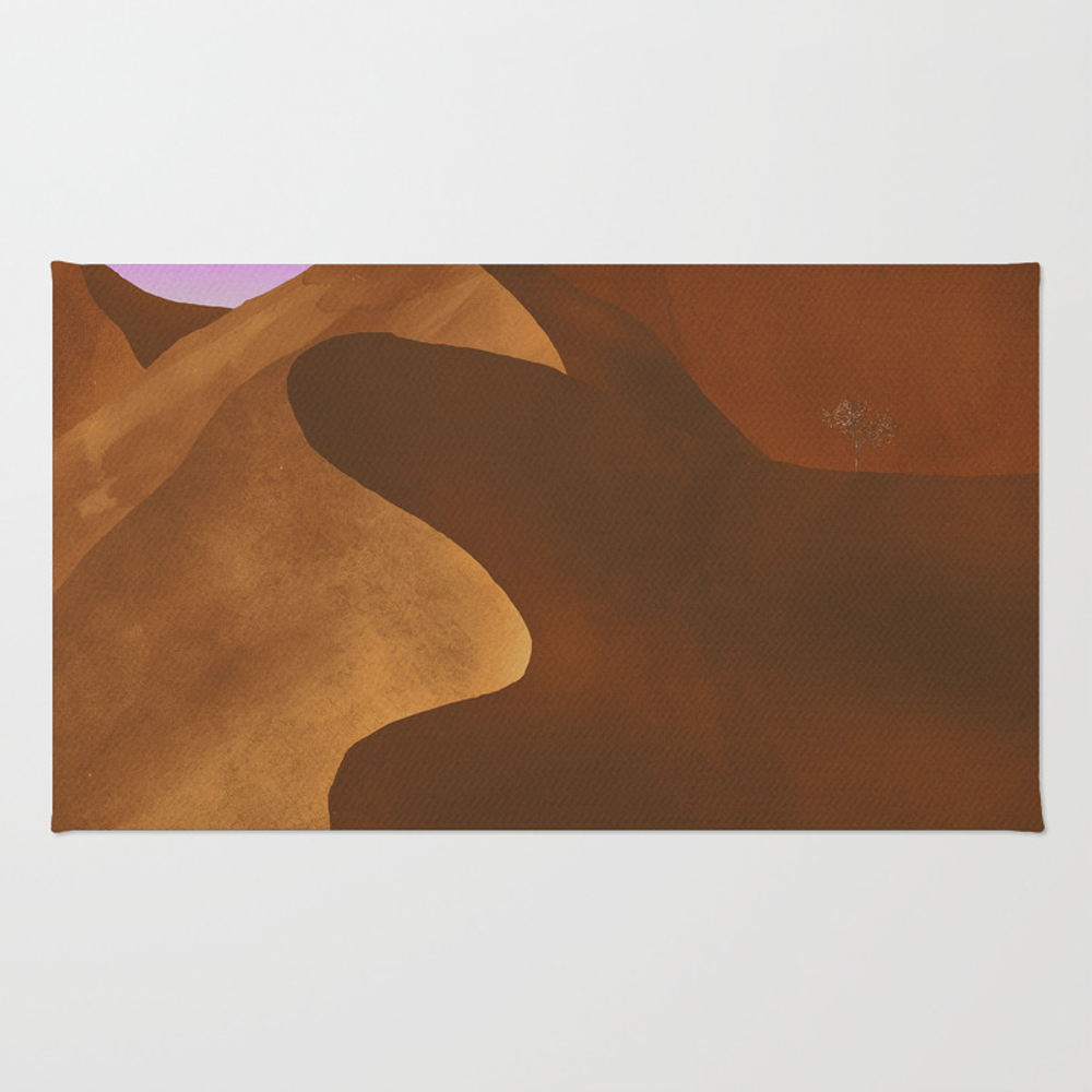At Night In The Desert Throw Rug by Cesartorres RUG9199214