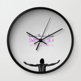YOGA & LOVE Wall Clock