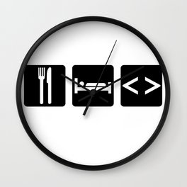 Eat, Sleep, Code Wall Clock