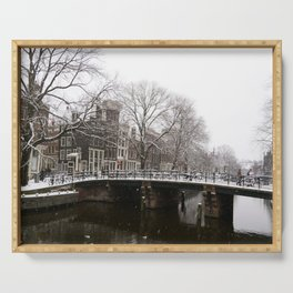 Winter in Amsterdam Serving Tray