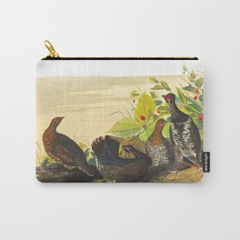Spotted Grouse Bird Carry-All Pouch