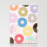 donuts Stationery Cards featuring Donuts by Alexandra Aguilar