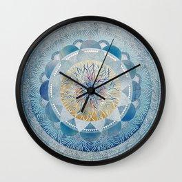 Winter's Thaw Mandala Wall Clock