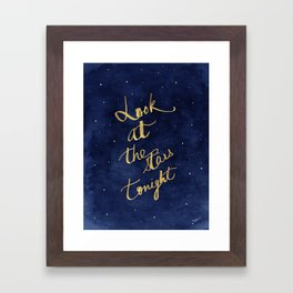 Starry Night Sky Art, Celestial Astronomy Stars Quote Art Print Poster, Celestial Nursery Decor Framed Art Print