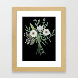 Woodland Bouquet Framed Art Print