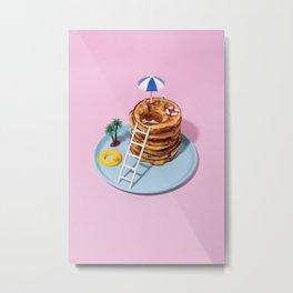 Pancakes pool Metal Print