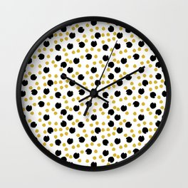 Pattern design with hand drawn elements Wall Clock