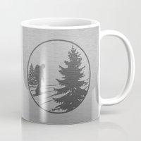 hiking Mugs featuring Hiking by Paul Simms