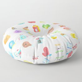 CUTE COOKING PATTERN Floor Pillow