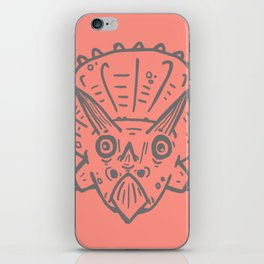 Asteroid Anxiety - Triceratops iPhone Skin