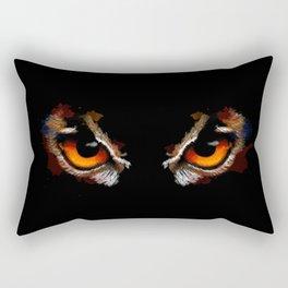 Owl Eyes - bird illustration, digital painting, animal art Rectangular Pillow