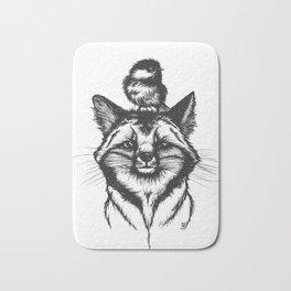 Little Fox & Bluetit (Kleiner Fuchs und Blaumeise) Friends - You & Me Bath Mat