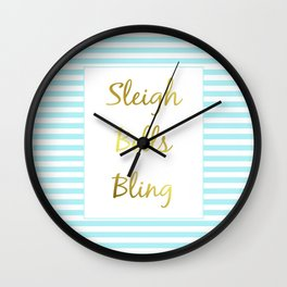 Sleigh Bells Bling Wall Clock