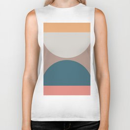 Abstract Geometric 23 Biker Tank