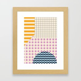 Abstract Geometric Framed Art Print