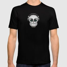 Cute Baby Owl Dj with Headphones and Glasses T-shirt