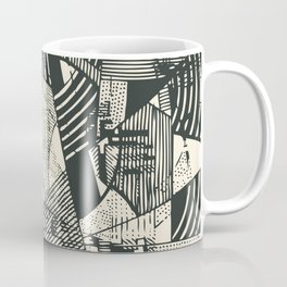 Hand Drawn Abstract Background Coffee Mug