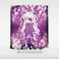 chibi Shower Curtains featuring Chibi Barasuishou by Yue Graphic Design