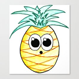 The Suprised Pineapple Canvas Print
