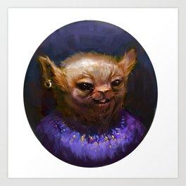 PORTRAIT OF LIL CURB Art Print