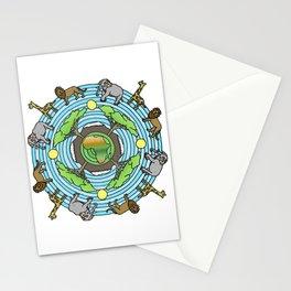 African Serengeti Themed Mandala Style Drawing Stationery Cards