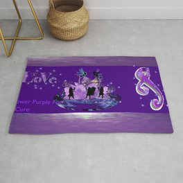 Power Purple For a Cure - Power of Love Rug