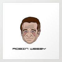 robin williams Art Prints featuring Robin Williams by ΛDX7