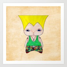 A Boy - Guile Art Print