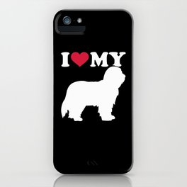 I love my Bearded Collie iPhone Case