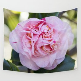 Strawberry Blonde Camellia Bloom Wall Tapestry