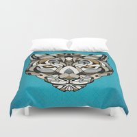 leopard Duvet Covers featuring Leopard by Andreas Preis