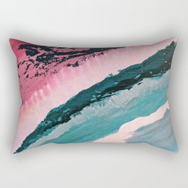 ECHO BEACH BABY | Acrylic abstract art by Natalie Burnett Art Rectangular Pillow