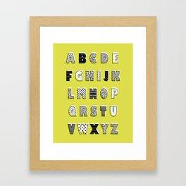 ABC mustard Framed Art Print