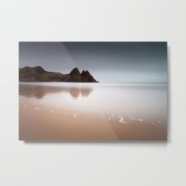 Three Cliffs Bay Gower Metal Print