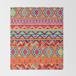 India Style Pattern (Multicolor) Throw Blanket